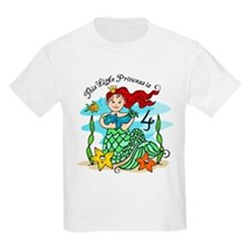 Mermaid Princess 4th Birthday T-Shirt