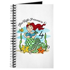 Mermaid Princess 4th Birthday Journal