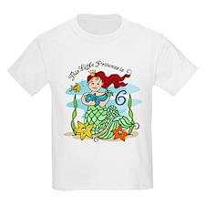 Mermaid Princess 6th Birthday T-Shirt