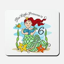 Mermaid Princess 6th Birthday Mousepad