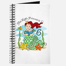 Mermaid Princess 6th Birthday Journal