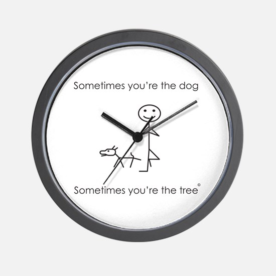 Cute Stick figure Wall Clock