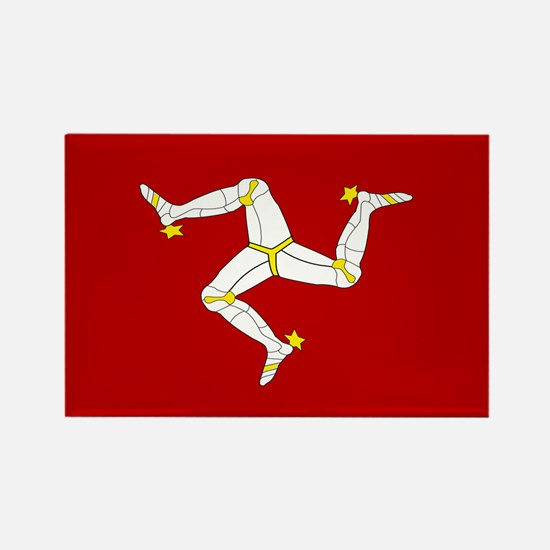 Isle of Man Flag Gear Rectangle Magnet