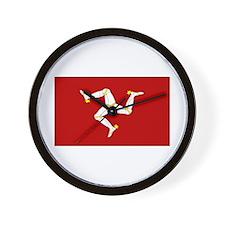 Isle of Man Flag Gear Wall Clock