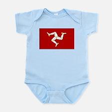 Isle of Man Flag Gear Infant Creeper