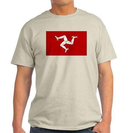 Isle of Man Flag Gear Ash Grey T-Shirt