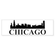 Chicago Skyline Bumper Car Sticker