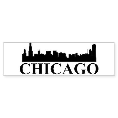 Chicago Skyline Bumper Sticker