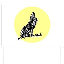 Wolf Moon Yard Sign