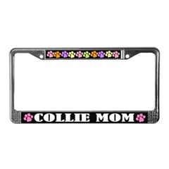 Collie Mom License Frame