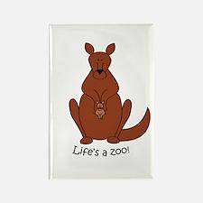 Kangaroo/Wallaby Rectangle Magnet