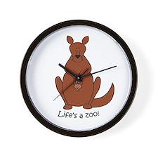 Kangaroo/Wallaby Wall Clock