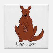 Kangaroo/Wallaby Tile Coaster