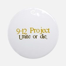 9 12 Project Ornament (Round)