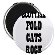 "SCOTTISH FOLD CATS ROCK 2.25"" Magnet (10 pack)"