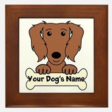 Personalized Dachshund Framed Tile