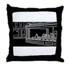 Nighthawks - Stick Throw Pillow