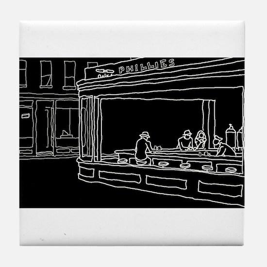 Nighthawks - Stick Tile Coaster
