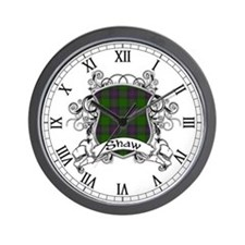 Shaw Tartan Shield Wall Clock