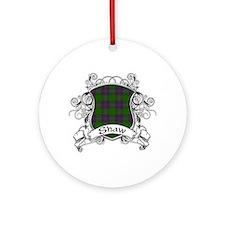 Shaw Tartan Shield Ornament (Round)