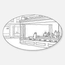 Nighthawks - Stick Oval Sticker (10 pk)