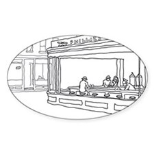 Nighthawks - Stick Oval Decal