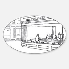 Nighthawks - Stick Oval Decal