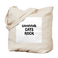 SAVANNAH CATS ROCK Tote Bag