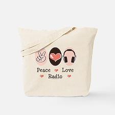 Peace Love Radio Tote Bag