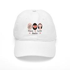 Peace Love Radio Baseball Cap