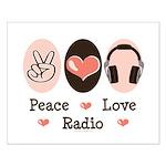 Peace Love Radio Small Poster