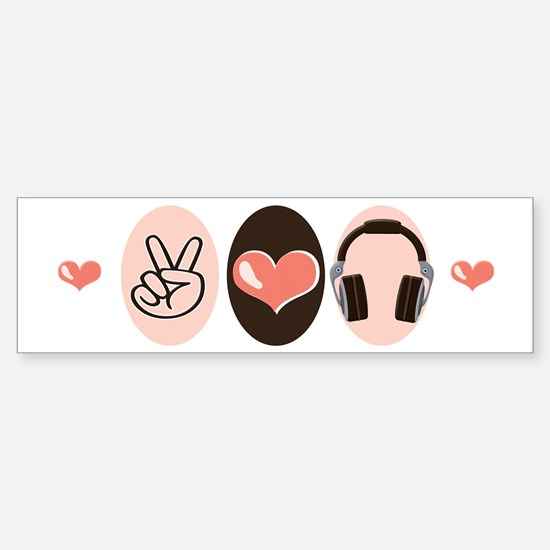 Peace Love Radio Bumper Bumper Bumper Sticker