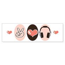 Peace Love Radio Bumper Bumper Sticker
