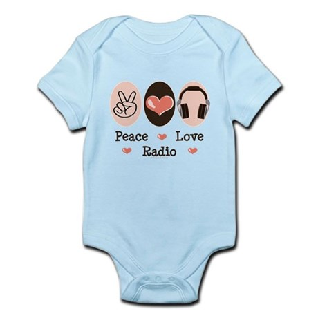 Peace Love Radio Infant Bodysuit