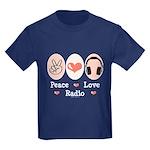 Peace Love Radio Kids Dark T-Shirt