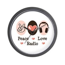Peace Love Radio Wall Clock