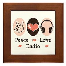 Peace Love Radio Framed Tile