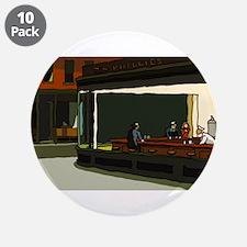 "Nighthawks - S.F. Masterpiece 3.5"" Button (10 pack"