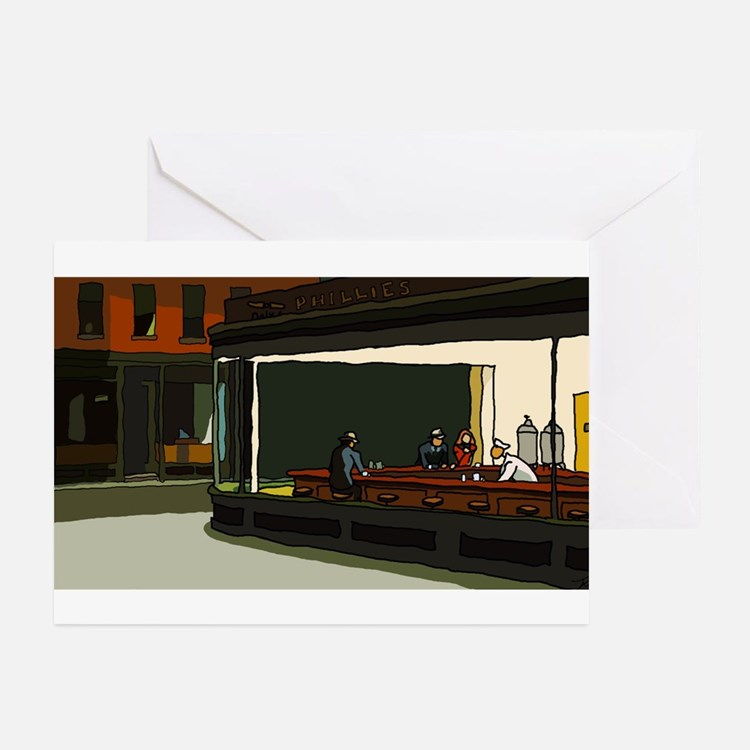 Nighthawks - S.F. Masterpiece Greeting Cards (Pk o