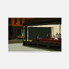 Nighthawks - S.F. Masterpiece Rectangle Magnet