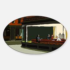Nighthawks - S.F. Masterpiece Oval Sticker (10 pk)