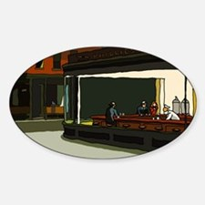 Nighthawks - S.F. Masterpiece Oval Decal