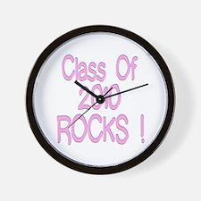 2010-pink Wall Clock