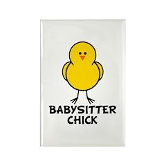 Babysitter Chick Rectangle Magnet (10 pack)