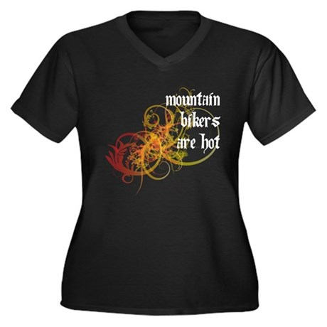 Mountain Bikers Are Hot Women's Plus Size V-Neck D