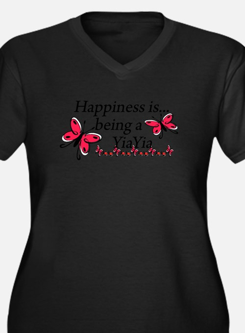 Butterfly Being A YiaYia Women's Plus Size V-Neck