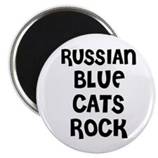RUSSIAN BLUE CATS ROCK Magnet
