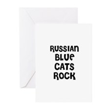 RUSSIAN BLUE CATS ROCK Greeting Cards (Package of