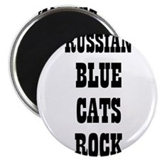 "RUSSIAN BLUE CATS ROCK 2.25"" Magnet (10 pack)"