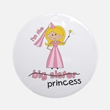 big sister t-shirts princess cross Ornament (Round
